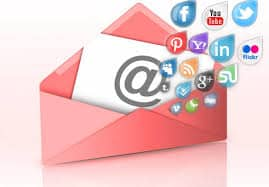 Social and email marketing integration