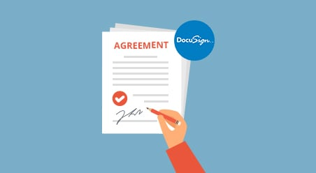 Generating agreement and docusign
