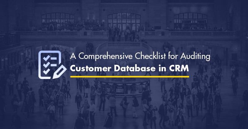 Customer database in CRM