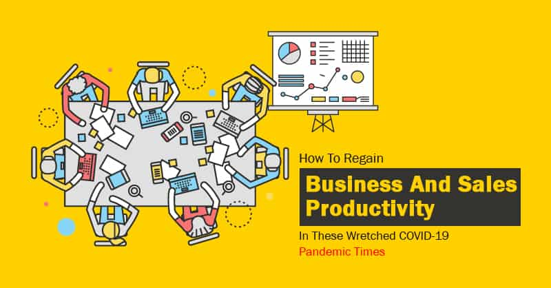 How To Regain Business And Sales Productivity In These Wretched COVID-19 Pandemic Times