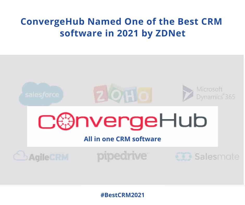 ConvergeHub Named Best CRM software in 2021 by ZDNet